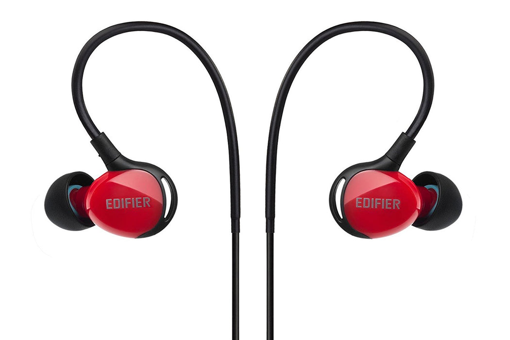 Edifier P281 Sweatproof Sports Earphones With Microphone - Red - EDFR-EAR-P281/BK-RED