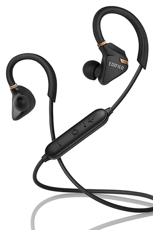 Edifier W296BT Bluetooth V4.1 Sports Earphones - Black - EDFR-EAR-W296BT/BLK