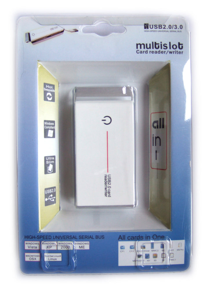 USB 2.0 All-IN-ONE Card Reader - WHITE - EXT-CARD-WHITE