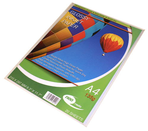 Neo Media 135g Glossy Photo Paper - 20 Sheets - GLOSS-135