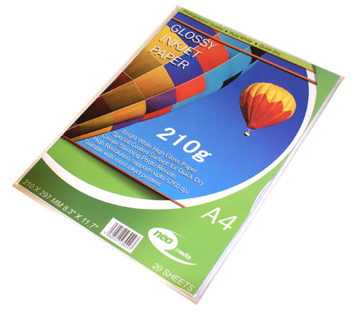 Neo Media 210g Glossy Photo Paper - 20 Sheets - GLOSS-210