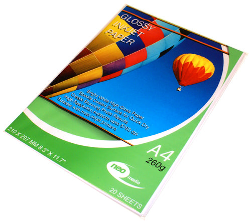 Neo Media 260g Glossy Photo Paper - 20 Sheets - GLOSS-260