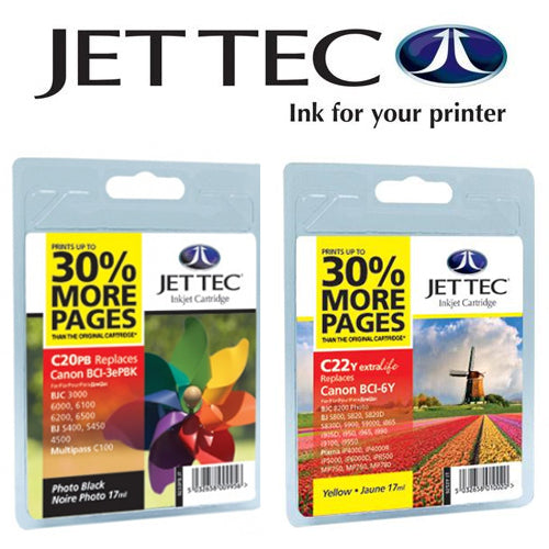 JETTEC Remanufactured BLACK Canon PG40 Ink Cartridge - CAN-C40