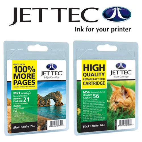 JETTEC BLACK HP 336 C9362E Remanufactured Ink Cartridge - RE-HP-336