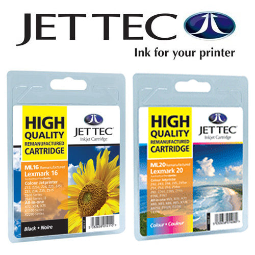 JETTEC BLACK Lexmark 10N0016 Remanufactured Ink Cartridge - RE-LEX-16
