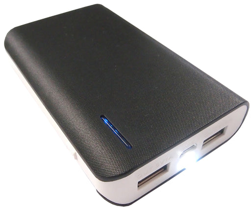 Black 6000mAh Portable Intelligent USB Mobile PowerBank - PWR-DY-6000/BLK