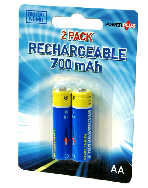 Powerplus NI-MH AA Rechargeable 700mAh Batteries For Hi-Tech Devices - PP-BATT-RE-AA