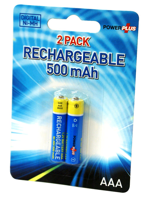 Powerplus NI-MH AAA Rechargeable 500mAh Batteries For Hi-Tech Devices - PP-BATT-RE-AAA