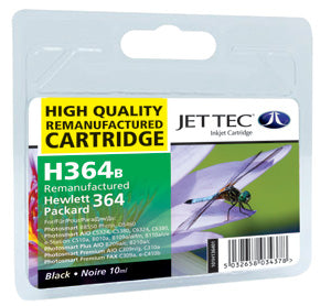 JETTEC HP 364 Black Remanufactured Ink Cartridge - C-364B