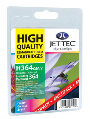 JETTEC HP 364 C/M/Y Combo Remanufactured Ink Cartridges - C-364C/M/Y