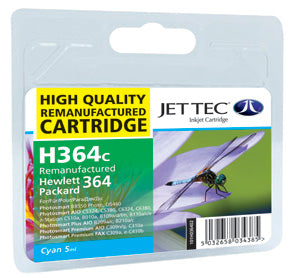 JETTEC HP 364 Cyan Remanufactured Ink Cartridge - C-364C