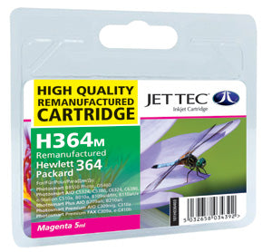JETTEC HP 364 Magenta Remanufactured Ink Cartridge - C-364M