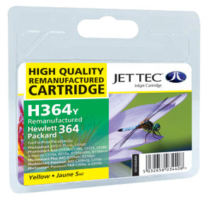 JETTEC HP 364 Yellow Remanufactured Ink Cartridge - C-364Y