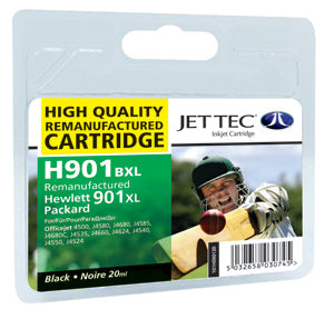 JETTEC HP 901 Black Remanufactured Ink Cartridge - RE-HP-901BXL