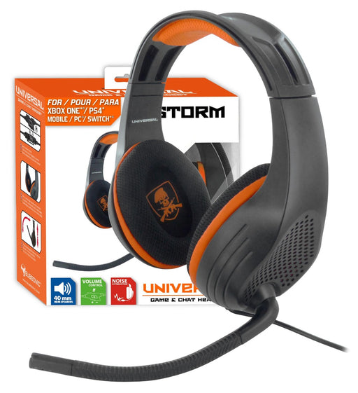 Subsonic X-Storm Universal Game & Chat Headset For Playstation 4 PS4 / Xbox One & PC - With Microphone - SUB-5157