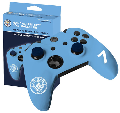 Subsonic Official Manchester City Silicone Cover For Xbox One Controller - With Thumb Grips - SUB-5324/MCFC