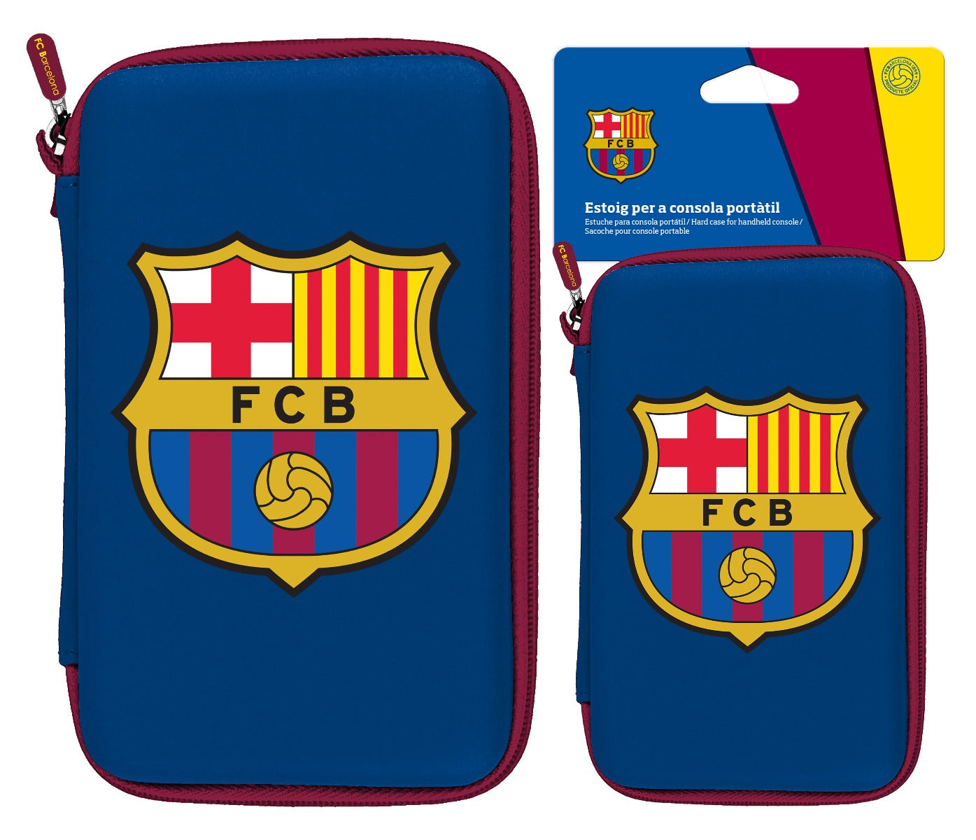 Subsonic Official Barcelona Hard Carry Case For Nintendo DS, 3DS / XL & Sony PSP, PS VITA  - SUB-5369/BARCA
