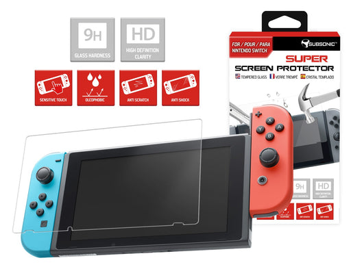 Subsonic Tempered Glass Screen Protector For Nintendo Switch - SUB-5400