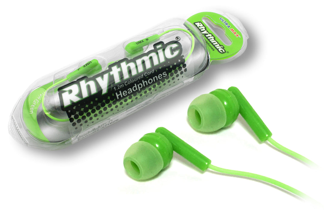 Ultramax Rhythmic High Quality In-Ear Earphones - Green - UMAX-EAR/GRN