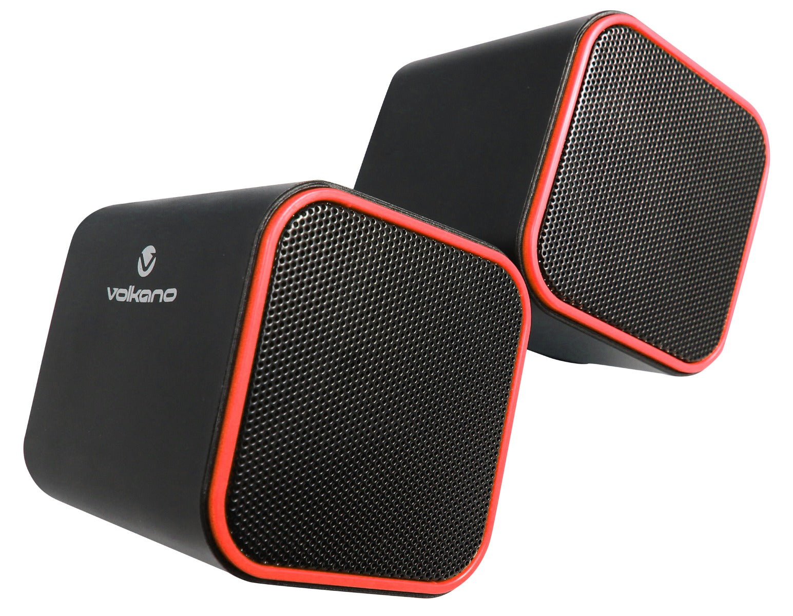 Volkano Diamond Series USB Powered 2.0 Stereo PC Laptop Speakers - Red - VOLK-VB702/RED