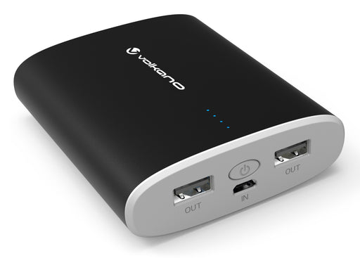 Volkano Massive Erupt Series 10000mAh Portable PowerBank - Black - VOLK-VE806/BLK