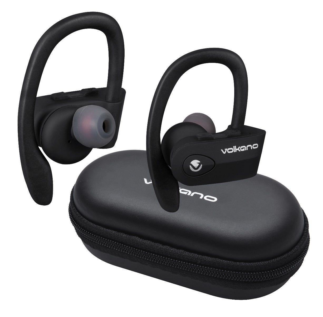 Volkano Sprint Series TWS True Wireless Bluetooth Sport Earbuds With Microphone & Call Function - Black - VOLK-VK-1112/BLK