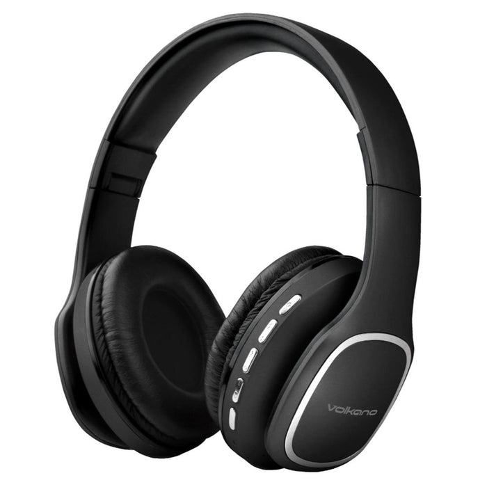 Volkano Phonic Series Bluetooth Headphones - Black - VOLK-VK2002/BLK