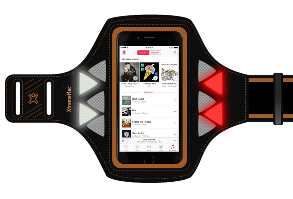 XtremeMac LED Sports Mobile Phone Armband Ideal For Running - XM-IPP-SLD-13