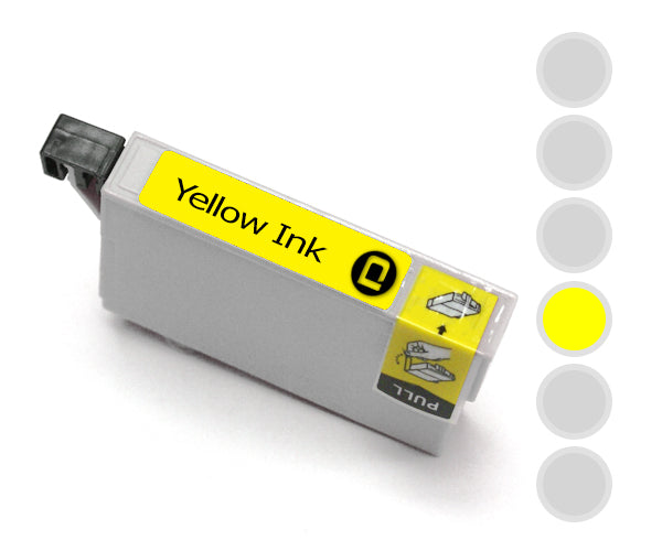 Epson T0804 Yellow Compatible Ink Cartridge - INK-E804/Y