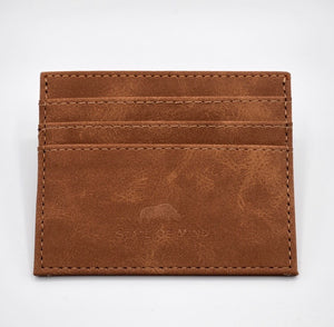 Vegan Leather Wallet- Brown