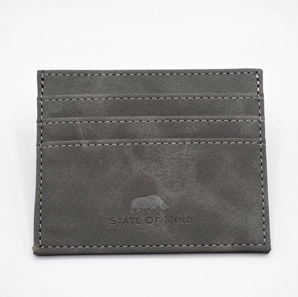 Vegan Leather Wallet - Grey