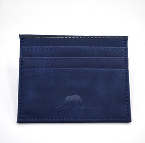 Vegan Leather Wallet - Navy
