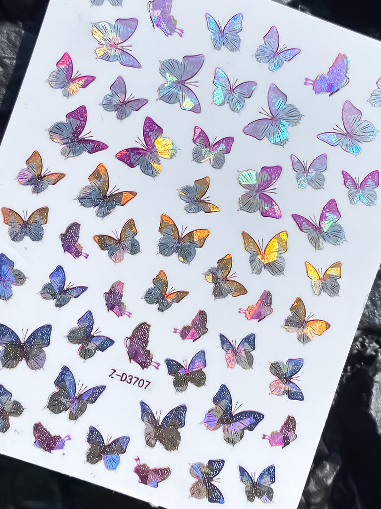 Holographic Butterfly Stickers