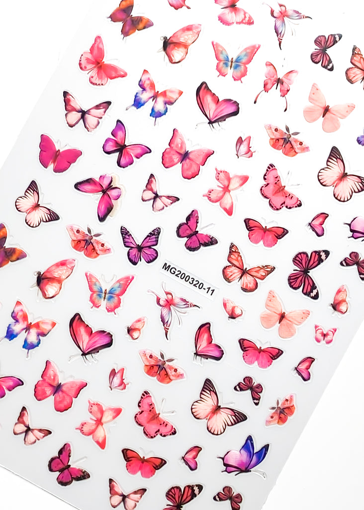 Watercolor Butterfly Stickers