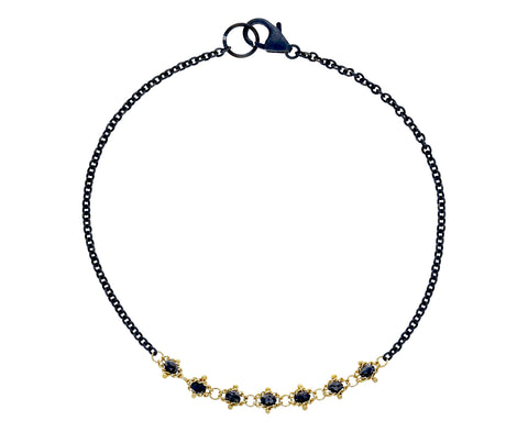 Black Diamond Textile Station Necklace - TWISTonline