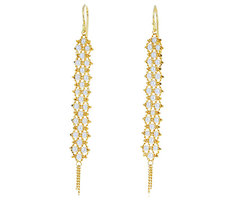 Long Pearl Textile Earrings - TWISTonline
