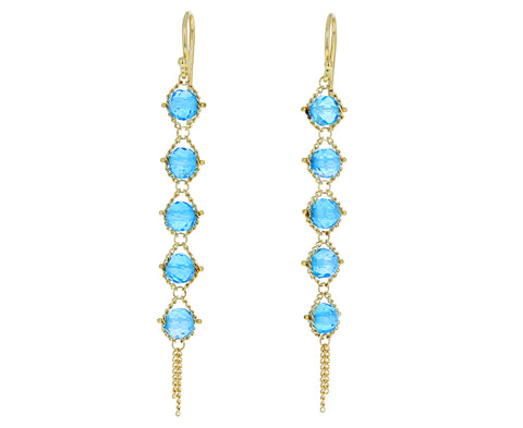 Blue Topaz Textile Earrings