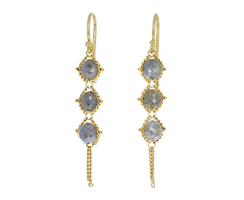 Gray Diamond Woven Earrings - TWISTonline