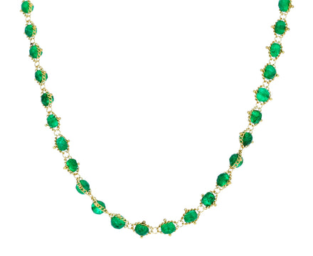 Emerald Textile Necklace