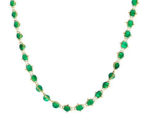 Emerald Textile Necklace - TWISTonline