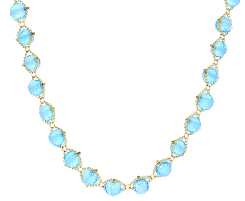 London Blue Topaz Textile Necklace - TWISTonline