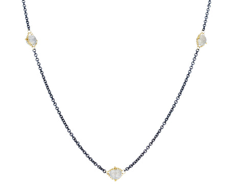 Labradorite Textile Station Necklace