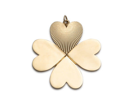 Plain Four Heart Clover Charm ONLY