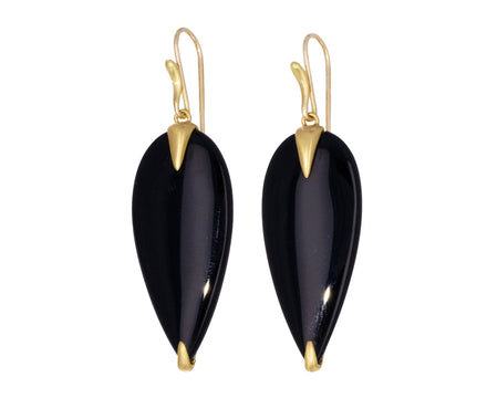 Onyx Simple Bird Earrings