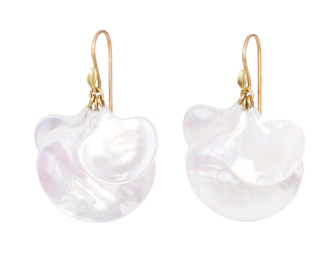 Mother-of-Pearl Gingko Leaf Earrings