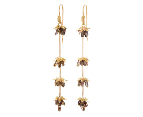 Gold and Diamond Lavender Earrings - TWISTonline