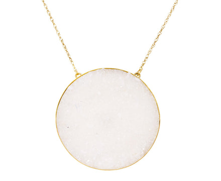 Crystal Druzy Luna Necklace