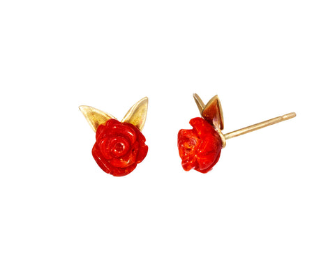 Coral Rose Garden Earrings