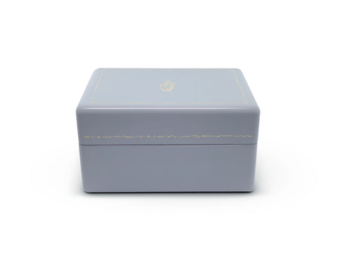 Evening Blue Mini Trunk Jewelry Box
