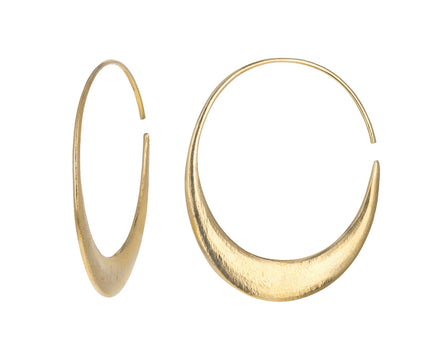 Large Hewn Crescent Hoop Earrings